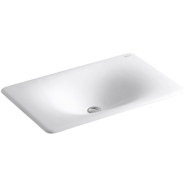 Iron Tones Metal Rectangular Drop-In Bathroom Sink by Kohler