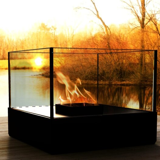 Cell Series Atrium Steel Bio-Ethanol Fireplace by Decorpro