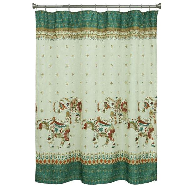 Cece Elephant Shower Curtain by Bloomsbury Market