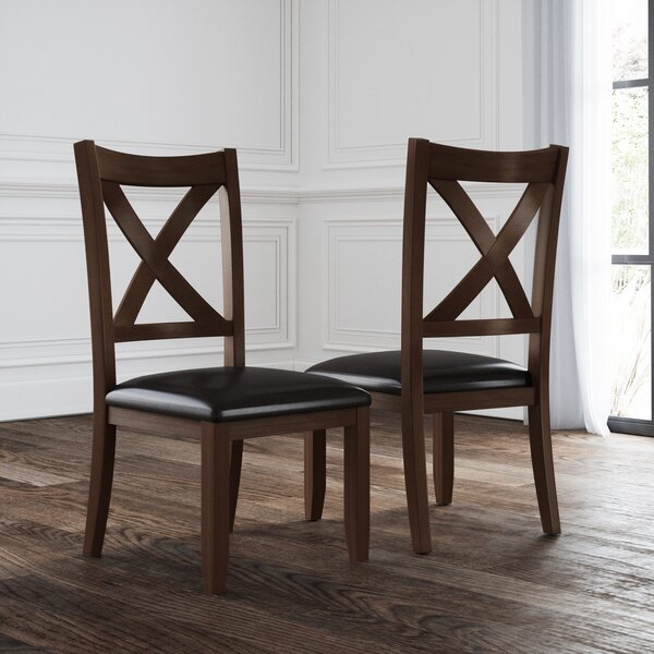 Chinook Upholstered Dining Chair (Set of 2) by Alcott Hill