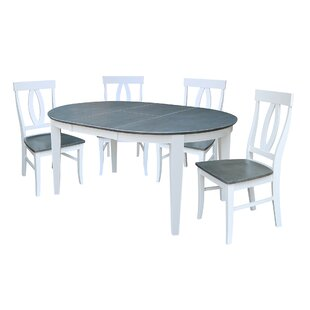 Talia 5 Piece Extendable Solid Wood Dining Set By August Grove