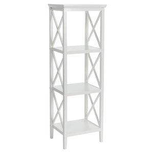 White Bathroom Linen Tower bathroom storage | joss & main