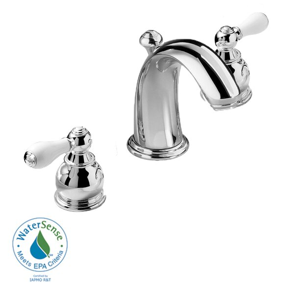 Hampton Widespread Bathroom Faucet with Double Lever Porcelain Handles by American Standard