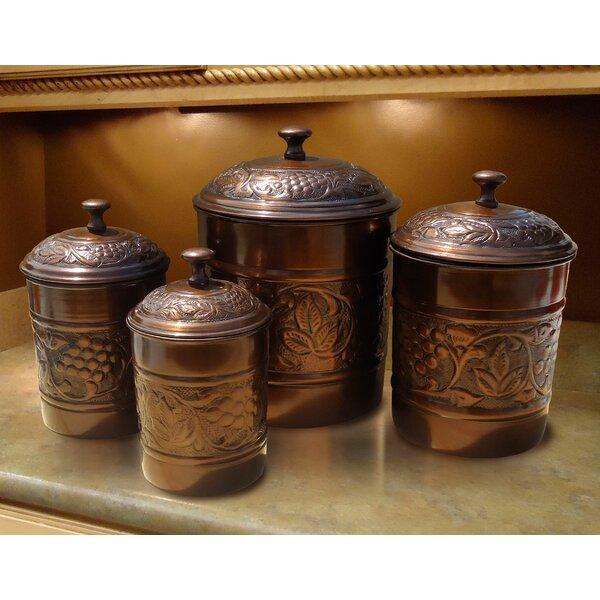 Heritage 4 Piece Kitchen Canister Set by Old Dutch International