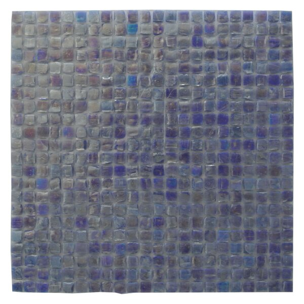 Ecologic 0.38 x 0.38 Glass Mosaic Tile in Violet by Abolos