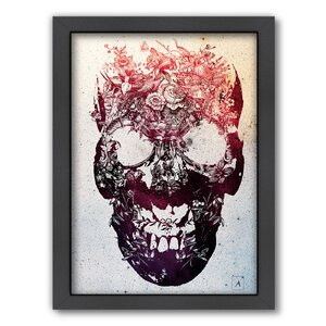 Floral Skull by Ali Gulec Framed Graphic Art by Americanflat