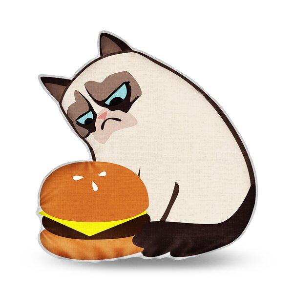 Burger Throw Pillow by LiLiPi