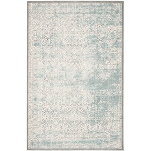 Auguste Turquoise/Ivory Area Rug