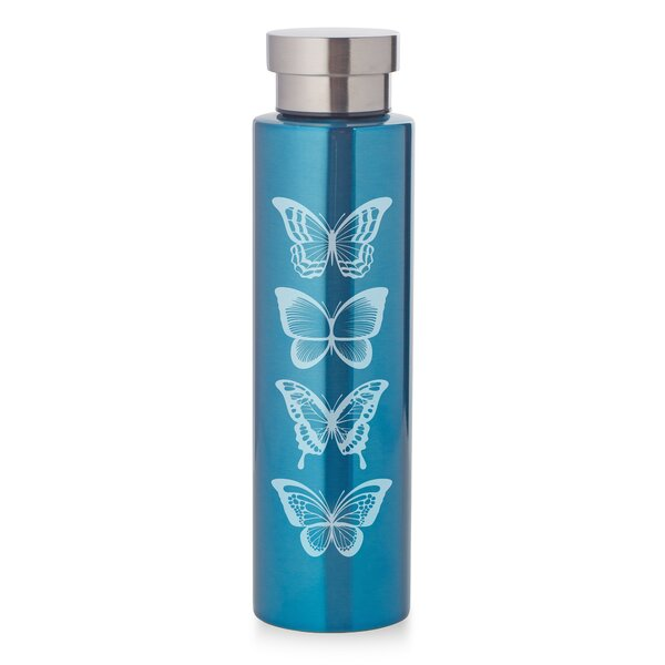 Creasey Butterflies 17 oz. Stainless Steel Water Bottle by Ebern Designs
