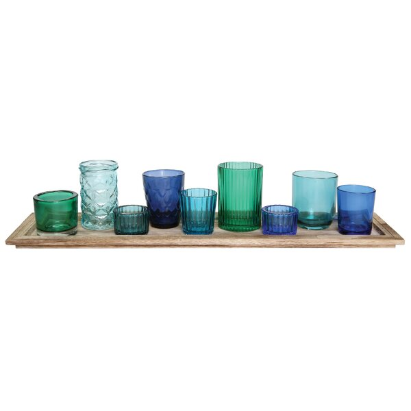 10 Piece Traditional Glass Votive Set by Beachcrest Home