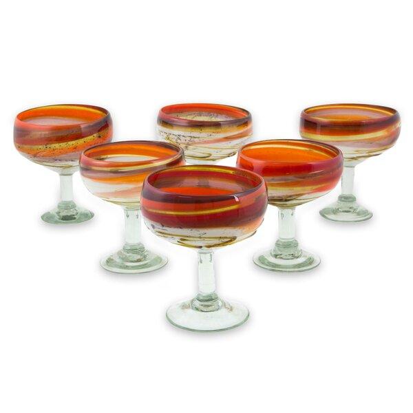 Lorriane 11 oz. Margarita Glass (Set of 6) by Latitude Run