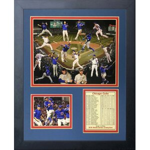 '2016 Chicago Cubs Champions Collage' Framed Memorabilia by Red Barrel Studio