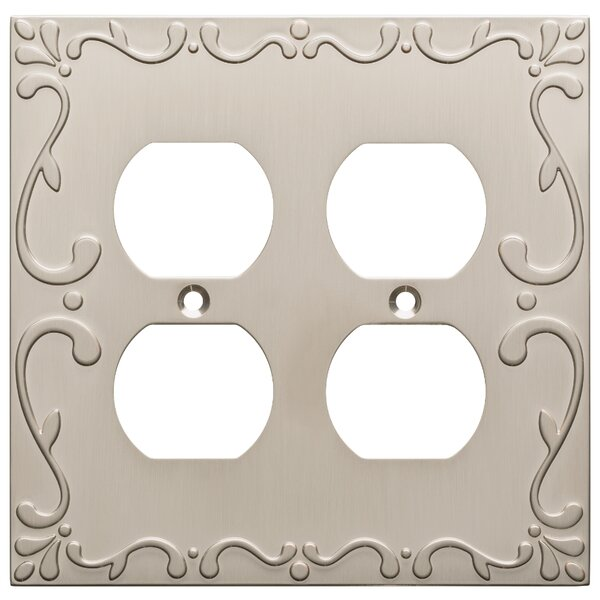 Classic Lace 2 Gang Duplex Wall Plate by Franklin Brass