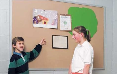 Wall Mounted Plascork Bulletin Board by Marsh