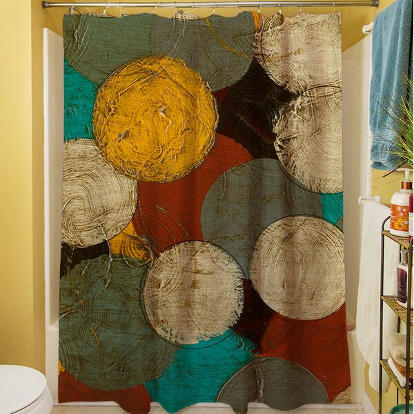 Circumlocution Shower Curtain by Manual Woodworkers & Weavers