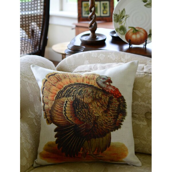 Turkey Pillow Cover by Golden Hill Studio
