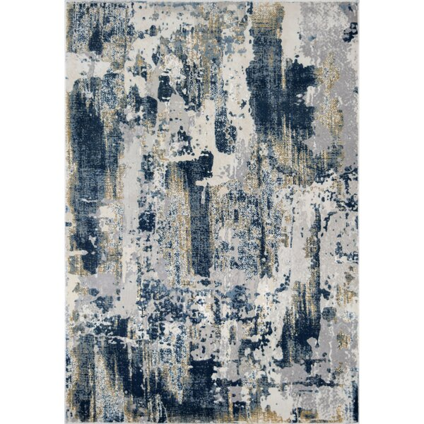Astor Vintage Sapphire Blue/Gray Area Rug by CosmoLiving by Cosmopolitan
