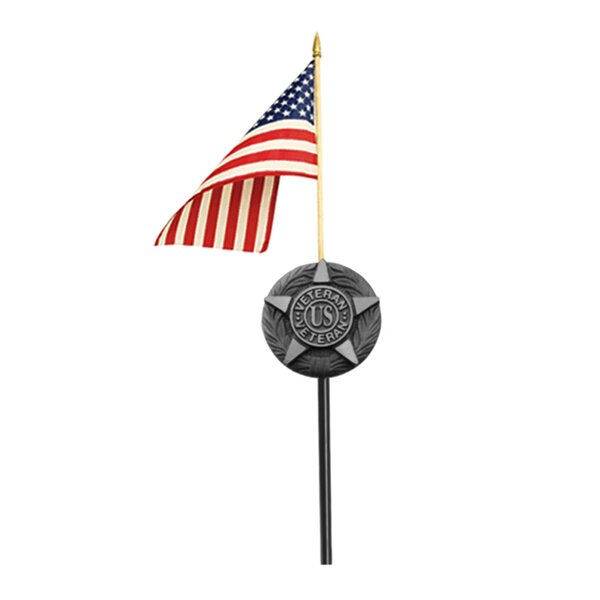 Flagmakers Grave Marker Traditional Flag and Flagp