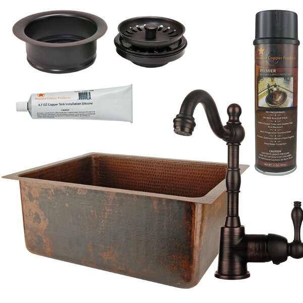 20 L x 16 W  Bar Sink with Faucet by Premier Copper Products