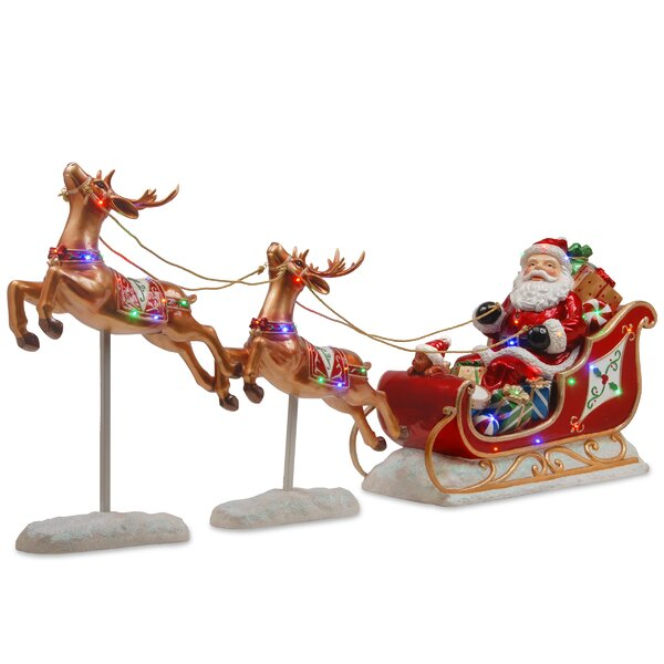 Santa's Sleigh and Reindeer Assortment by National Tree Co.