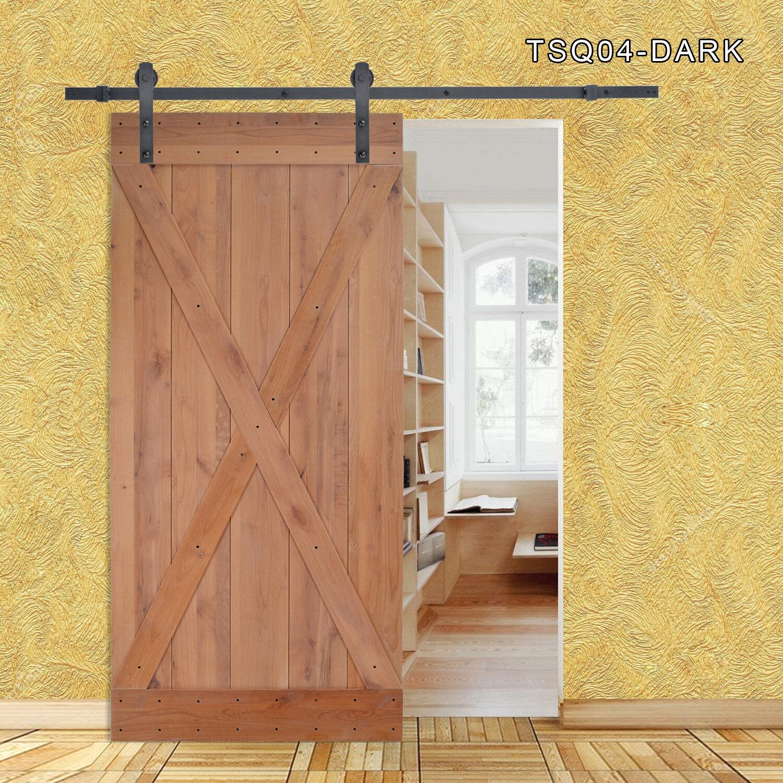 Calhome X Overlay Primed Sliding Solid Wood Panelled Slab Interior Barn Door Wayfair