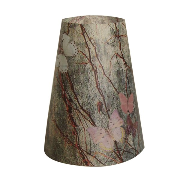 5.5 H Paper Empire Lamp Shade in Gray/Brown (Set of 20)