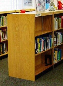 Double Face Shelf Standard Bookcase By W.C. Heller
