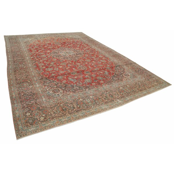 One-of-a-Kind Frisco Hand-Knotted 1960s Turkish Red/Brown 10' x 14' Area Rug