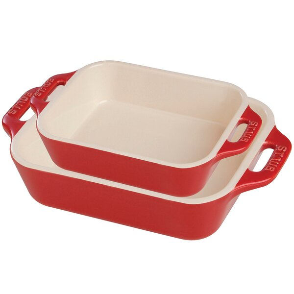 Ceramic 2 Piece Rectangular Baking Dish Set by Staub