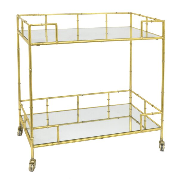 Janke Metal/Mirrored Bar Cart by Everly Quinn