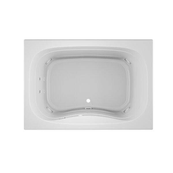 Signa Right-Hand 60 L x 42 W Drop In Whirlpool Bathtub by Jacuzzi®