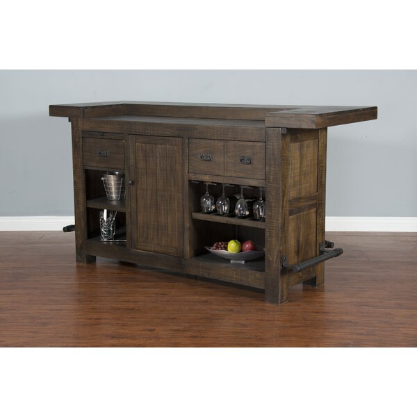 Calina Bar with Wine Storage by Gracie Oaks Gracie Oaks