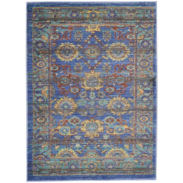 Devan Blue Indoor Area Rug by World Menagerie