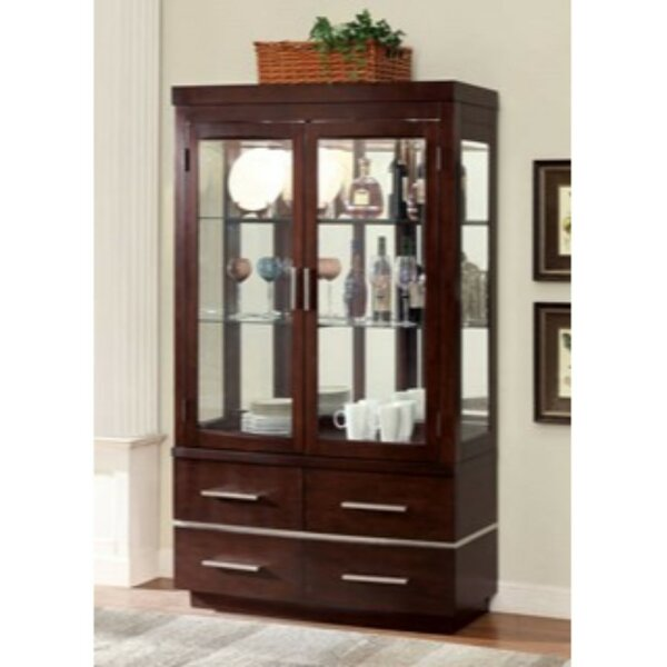 Northfleet Lighted Curio Cabinet By Orren Ellis Best Choices
