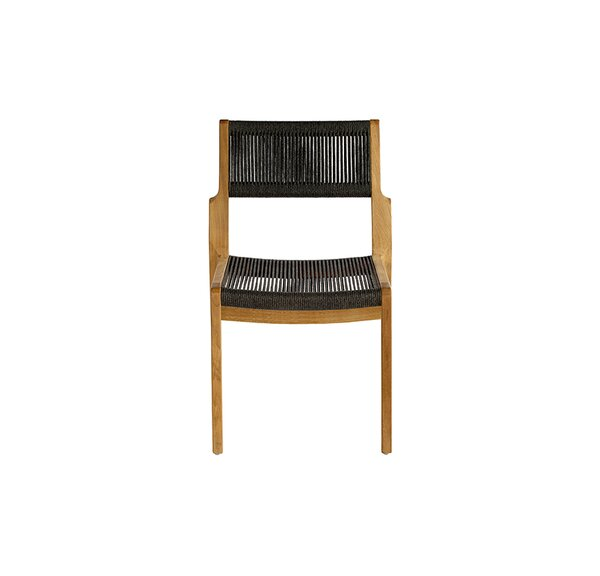 Skagen Stacking Teak Patio Dining Side Chair by OASIQ