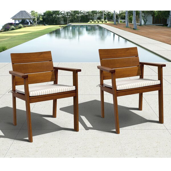 Altus Furniture Easy Carver Patio Dining Chair with Cushion (Set of 2) by Bay Isle Home