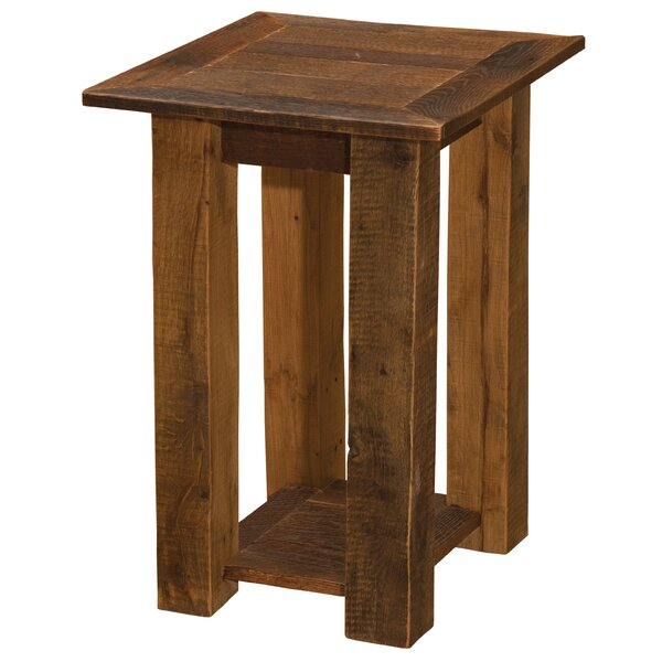 Barnwood Open End Table by Fireside Lodge