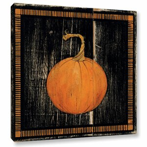 Polka Dot Pumpkin I Painting Print on Wrapped Canvas by Laurel Foundry Modern Farmhouse