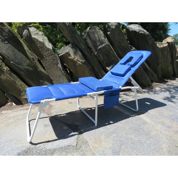 OH Cloud Reclining Beach Chair with Cushion by Ergolounger