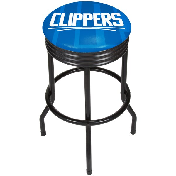 NBA Fade Ribbed 28.5 Swivel Bar Stool by Trademark Global