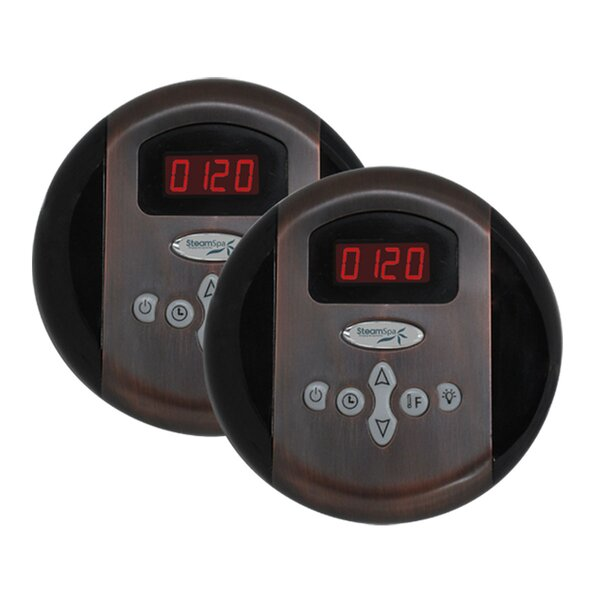 SteamSpa Programmable Dual Control Panels in Oil Rubbed Bronze by Steam Spa