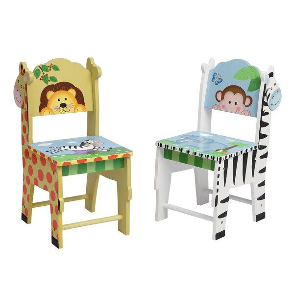 2 Piece Fantasy Fields Sunny Safari Kids Chair Set by Teamson Kids