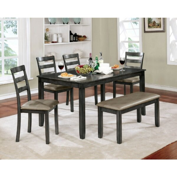 Dull 6 Piece Solid Wood Dining Set by Gracie Oaks