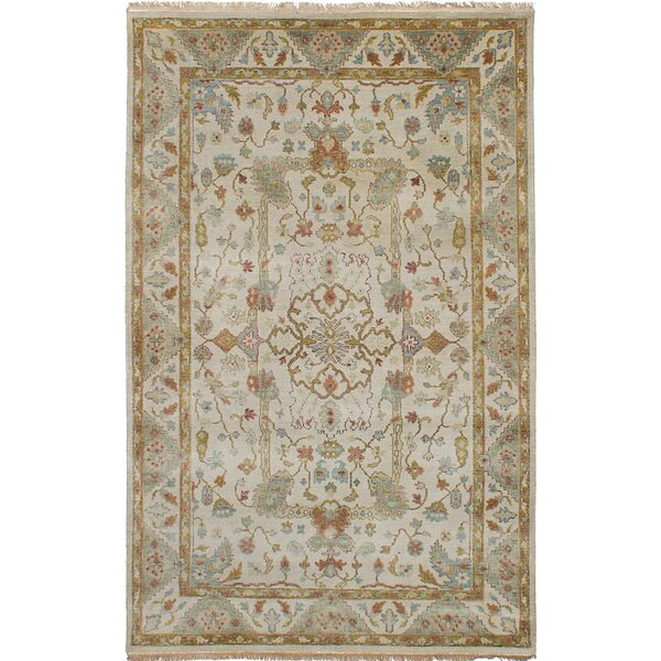 One-of-a-Kind Donoho Hand-Knotted Wool Ivory Area Rug by Isabelline