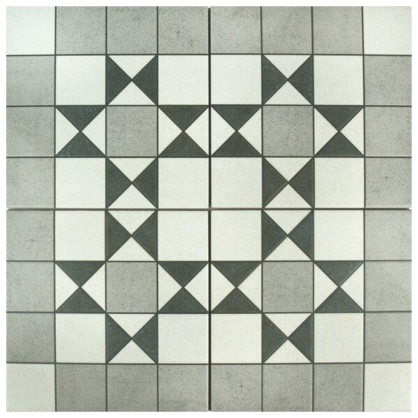 Annata Bristol 9.75 x 9.75 Porcelain Field Tile in Gray by EliteTile