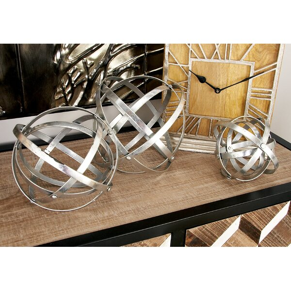 3 Piece Fold Orb Sculpture Set by Cole & Grey