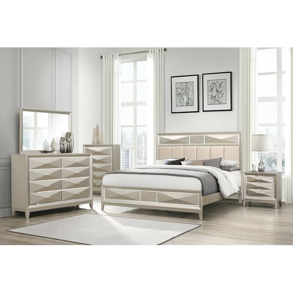 Livermore Upholstered Standard Bed by Everly Quinn