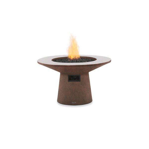 Mesa Concrete Gas Fire Pit Table by Brown Jordan Fires