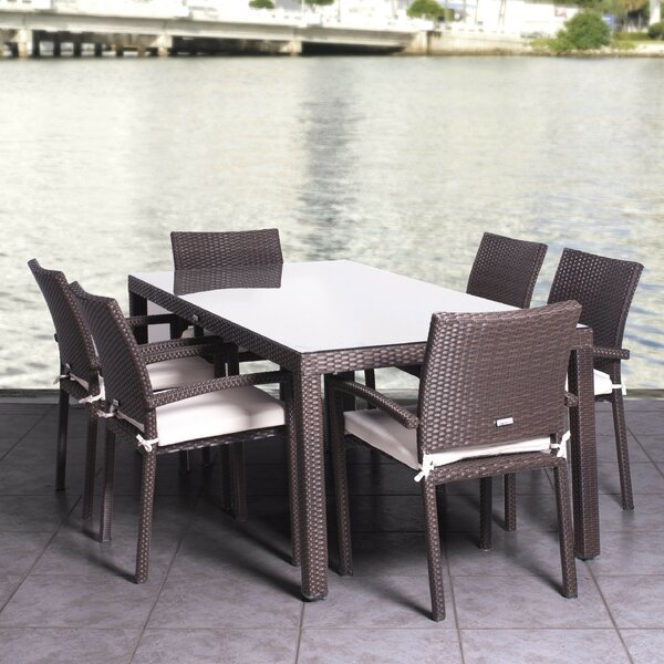 Aquia Creek 7 Piece Dining Set with Cushion by Beachcrest Home