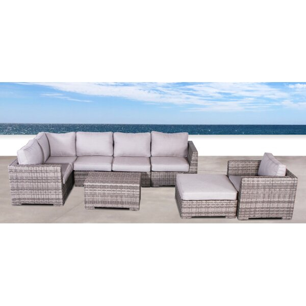 Letona Club 4 Piece Sectional Seating Group with Cushions by Sol 72 Outdoor